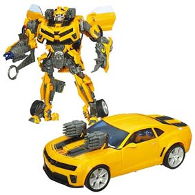 Brinquedo do Filme Transformers Battle Ops Bumblebee Camaro (aberto)