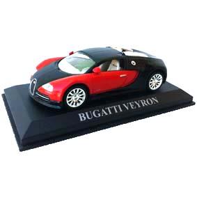 Bugatti Veyron escala 1/43 (pneus de borracha) com caixa de acrílico