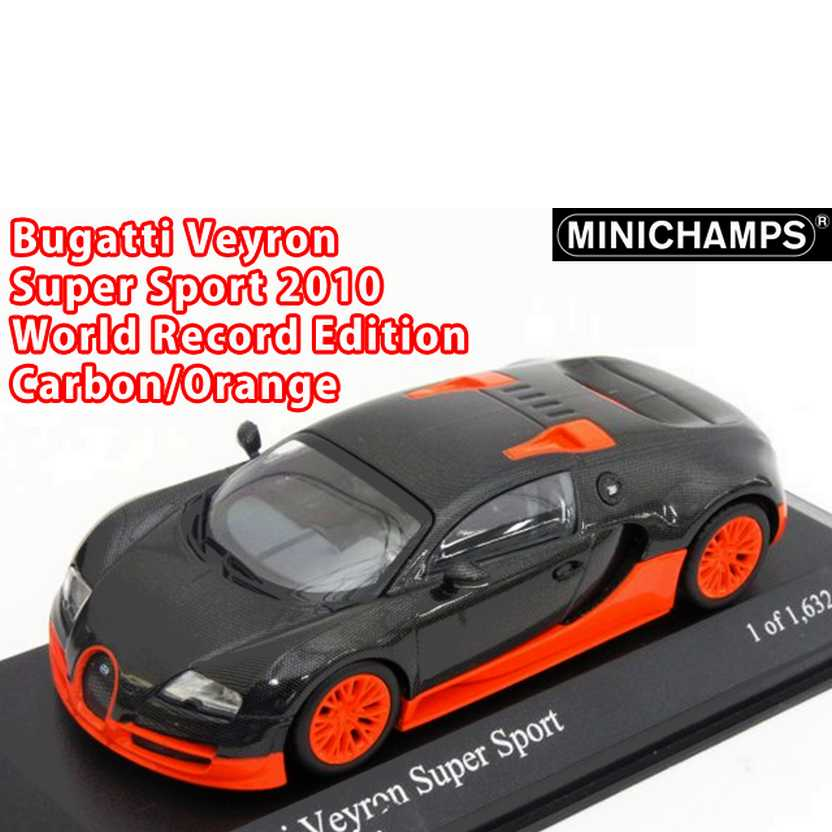 Bugatti Veyron Super Sport Carbon World Record Edition - Minichamps escala 1/43