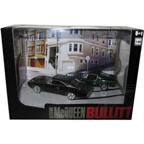 Bullit Diorama (Steve McQueen) Ford Mustang 390 (1968) e Dodge Charger 440 (1968)