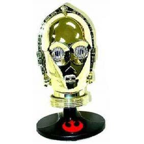 C-3PO Mini Helmet acende os olhos