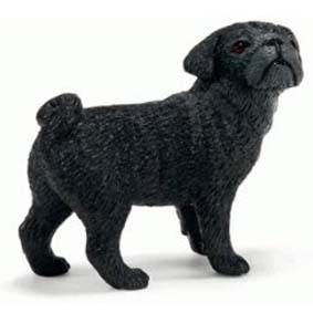 Cadela da Raça Pug 16382 (2011 Schleich Toys) Dog Pug Female