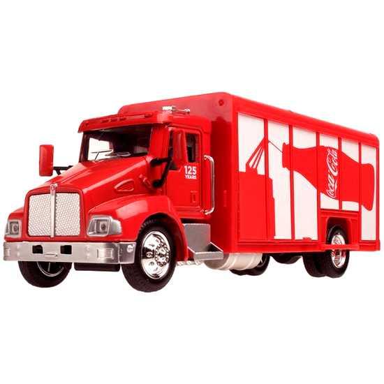Caminhão Coca-Cola (125 anos) Kenworth T300 Delivery Truck marca Motor City escala 1/43