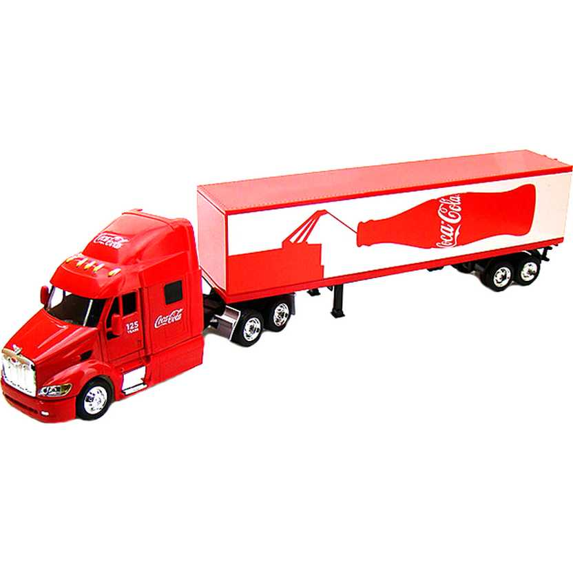 Caminhão da Coca-Cola (125 anos) 2011 Peterbilt Long Hauler Motor City escala 1/43