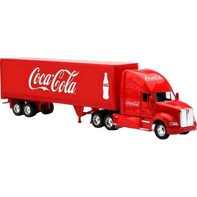 Caminhão da Coca-Cola Kenworth T700 Tractor Trailer Motor City escala 1/32