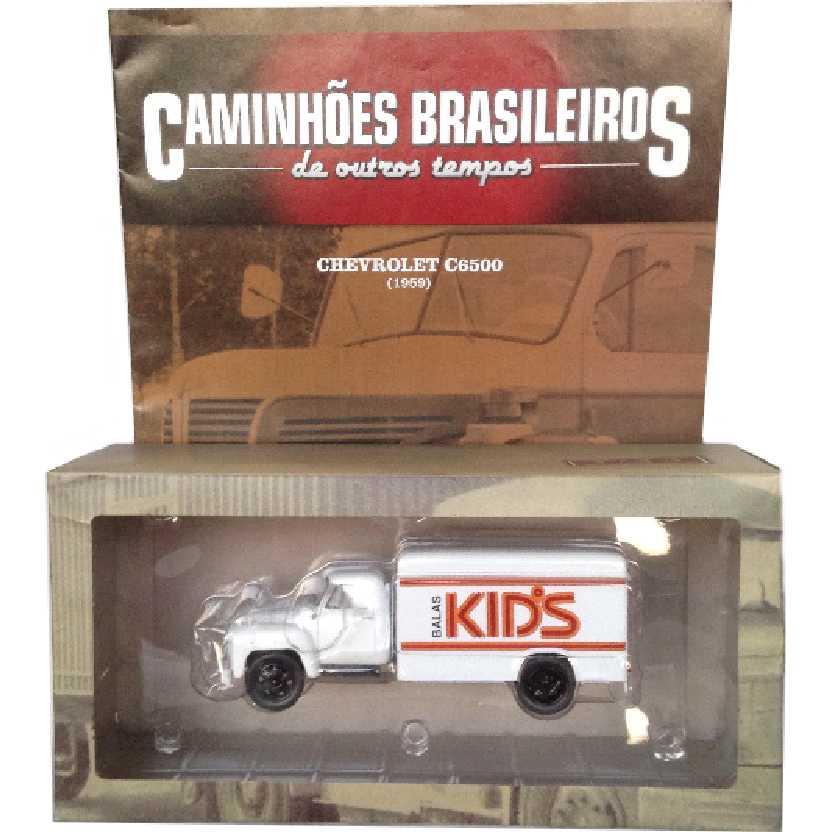 Caminhões Brasileiros De Outros Tempos Chevrolet C6500 (1959) Balas Kids edição 8 escala 1/43