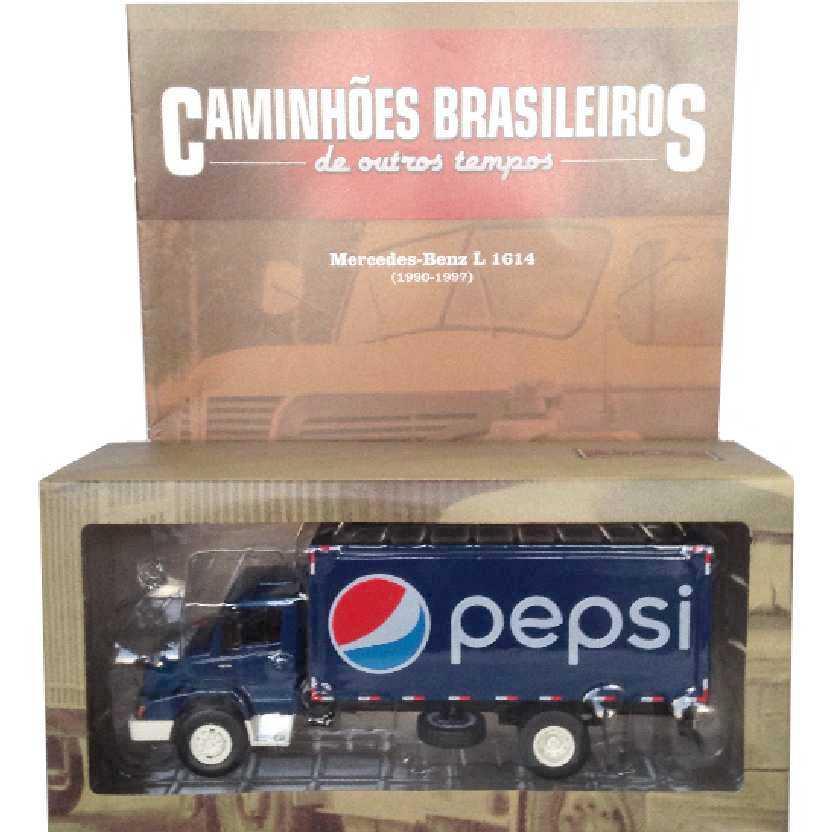 Caminhões Brasileiros De Outros Tempos Mercedes-Benz L 1614 Pepsi edição 25 escala 1/43