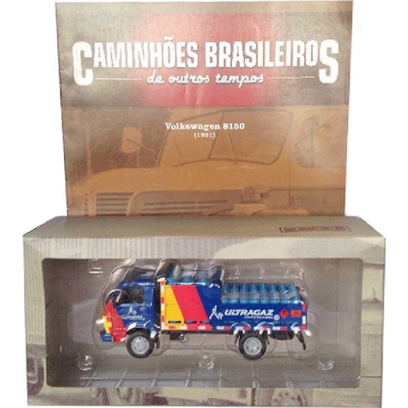 Caminhões Brasileiros De Outros Tempos Volkswagen Ultragaz VW 8150 edição 12 escala 1/43
