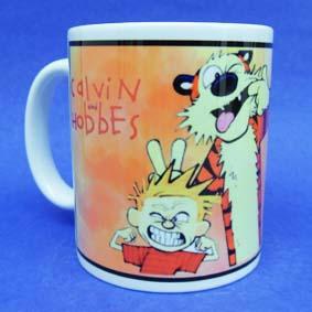 Caneca do Calvin e Haroldo (em cerâmica) Calvin and Hobbes