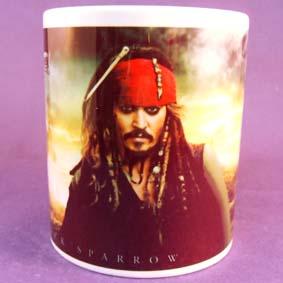 Caneca dos Piratas do Caribe (em cerâmica) Jack Sparrow / Johnny Deep