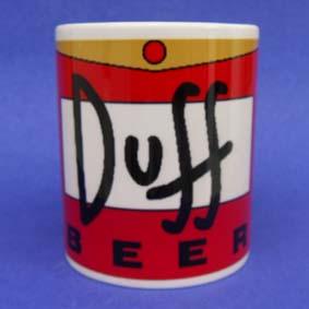 Caneca Duff Beer ( em cerâmica ) Os Simpsons