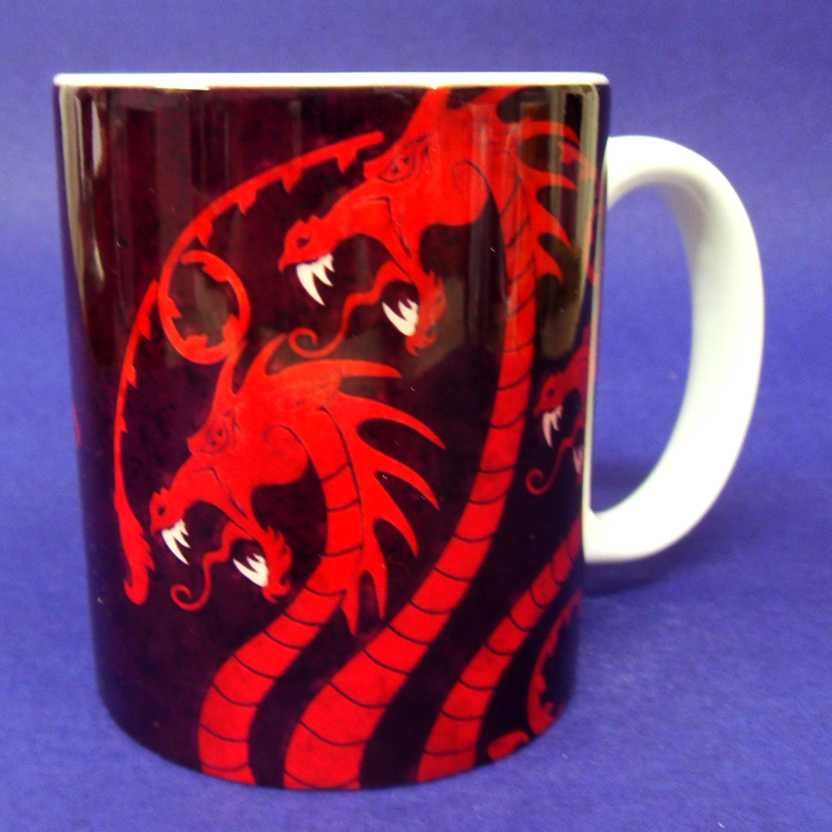 Caneca Game of Thrones - House Targaryen - Fire and Blood ( pode ir ao microondas )