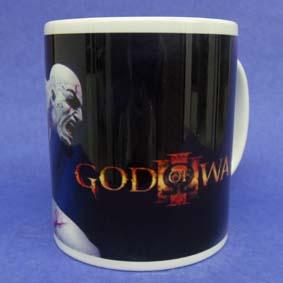 Caneca God of War (em cerâmica) Kratos