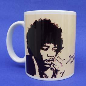 Caneca Jimmi Hendrix (em cerâmica)