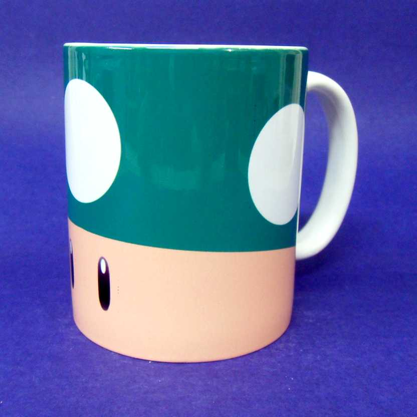 Caneca Super Mario Bros. - Green Toad ( pode ir ao microondas )
