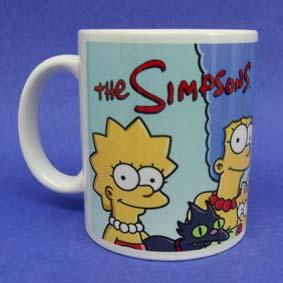 Caneca Temática da Família Simpsons em cerâmica
