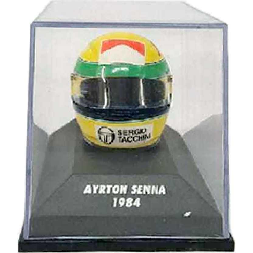 Capacete Ayrton Senna BELL (1984) marca Minichamps escala 1/8