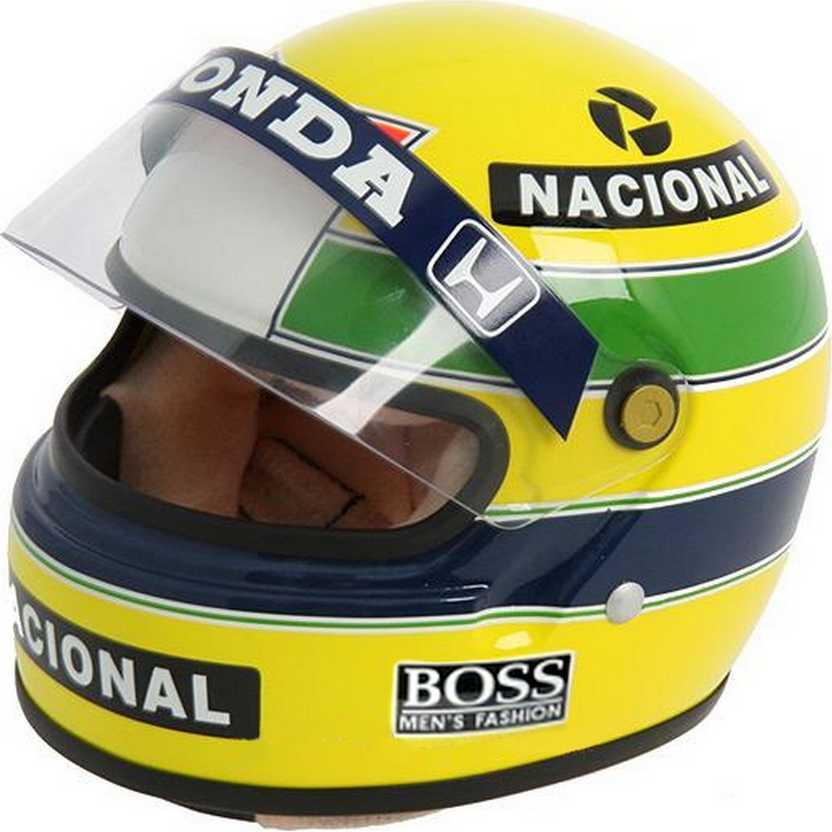 Capacete Ayrton Senna BELL (1988) World Champion marca Minichamps escala 1/2