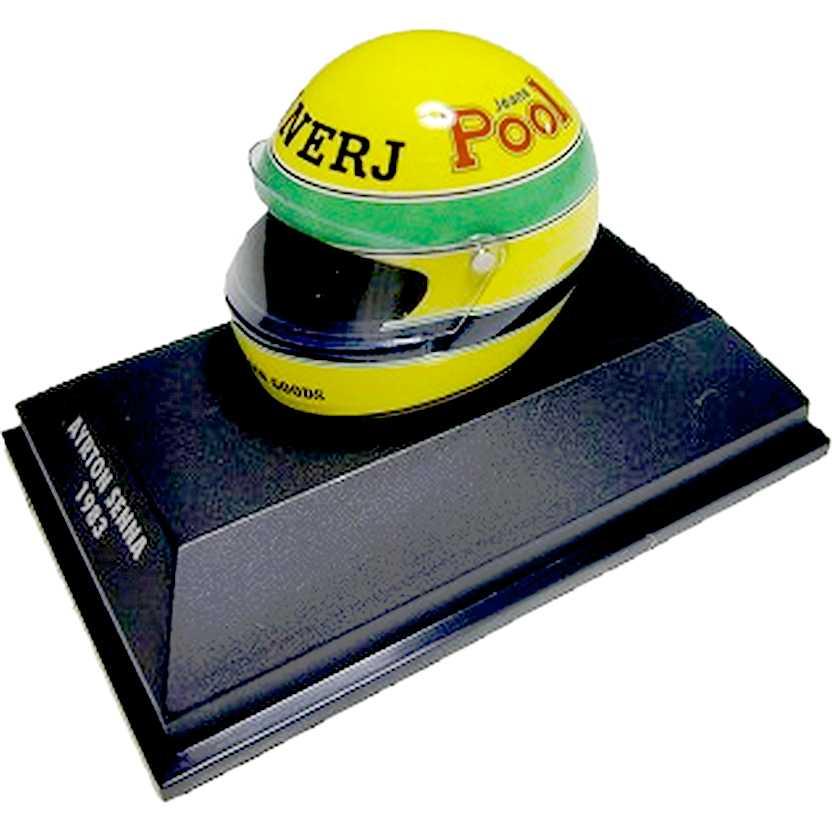 Capacete Ayrton Senna BELL F3 POOL (1983) Minichamps escala 1/8