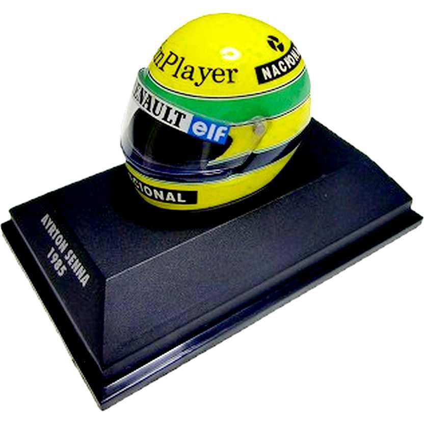 Capacete Ayrton Senna Bell Lotus 97T/Renault (1985) Minichamps escala 1/8