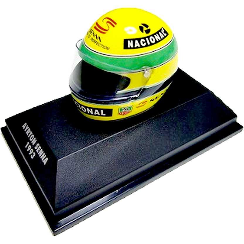 Capacete Ayrton Senna Driven to Perfection - Bell (1993) Minichamps escala 1/8