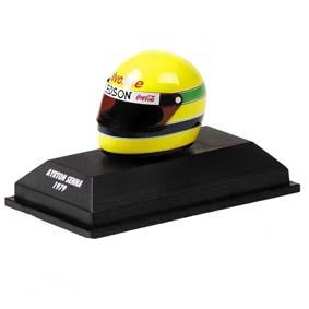Capacete Ayrton Senna Kart ARAI (1979/1980) Minichamps escala 1/8