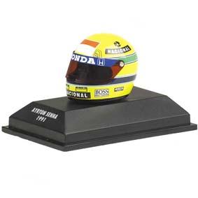 Capacete Ayrton Senna RHEOS (1991) Tricampeão