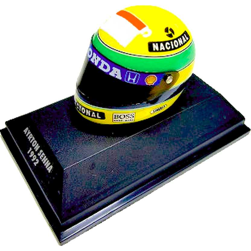 Capacete Ayrton Senna Shoei (1992) McLaren MP4/7 Honda F1 Helmet (RARIDADE)