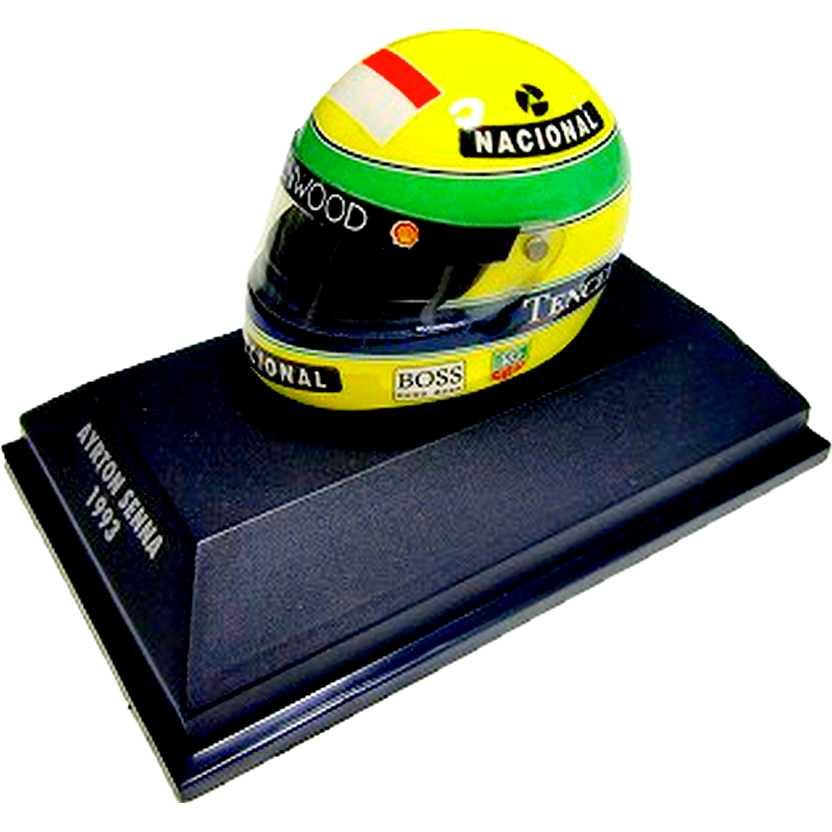 Capacete Ayrton Senna Shoei (1993) McLaren MP4/8 Ford F1 Helmet (RARIDADE)