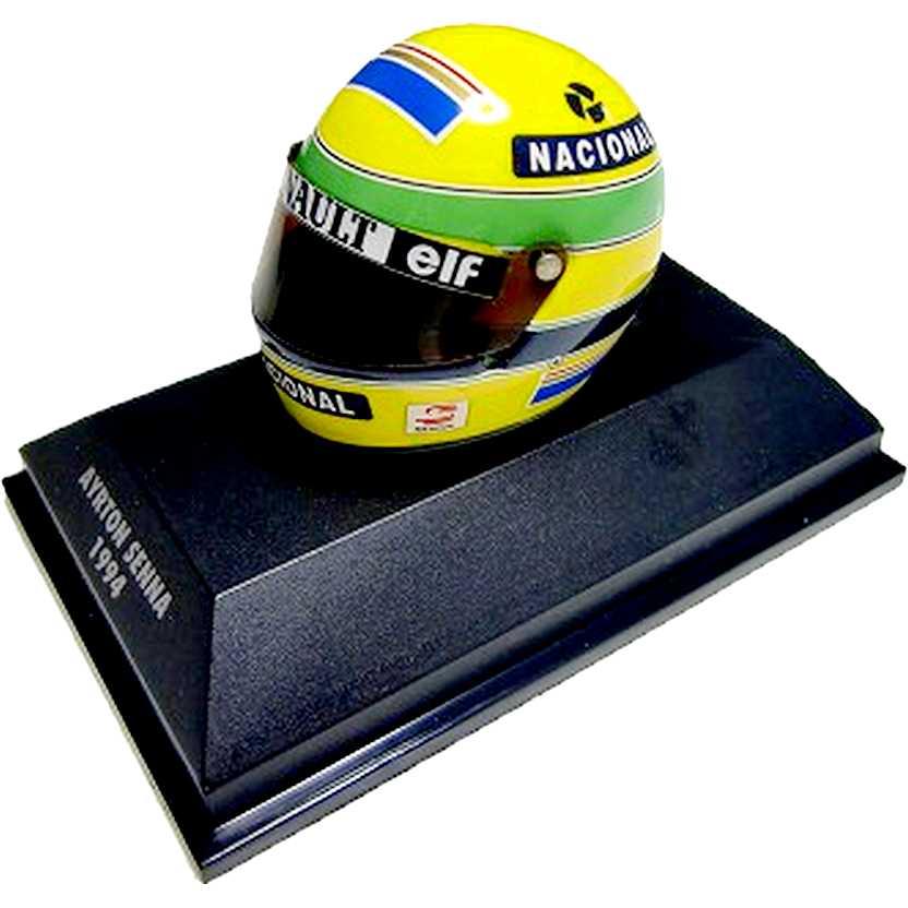 Capacete Ayrton Senna - Williams FW16 - Bell (1994) Minichamps escala 1/8