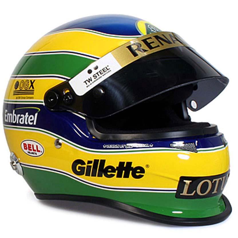 Capacete Bruno Senna Lotus Renault Team (2011) Bell Racing Helmets escala 1/2