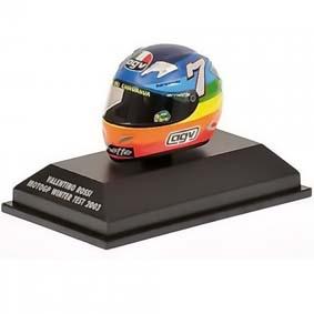 Capacete Minichamps 1/8 AGV Valentino Rossi Campeão Moto GP (2003) Honda
