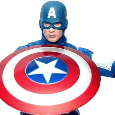 Capitão América do filme Os Vingadores - Neca Avengers Captain America Action Figure