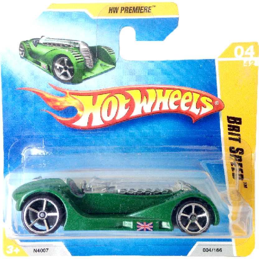 Carrinho 2009 Hot Wheels Brit Speed series 04/42 004/166 N4007 escala 1/64