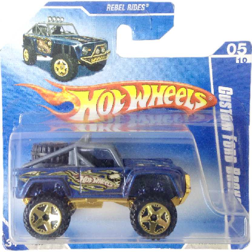 Carrinho 2009 Hot Wheels Custom Ford Bronco series 05/10 141/166 P2461 escala 1/64