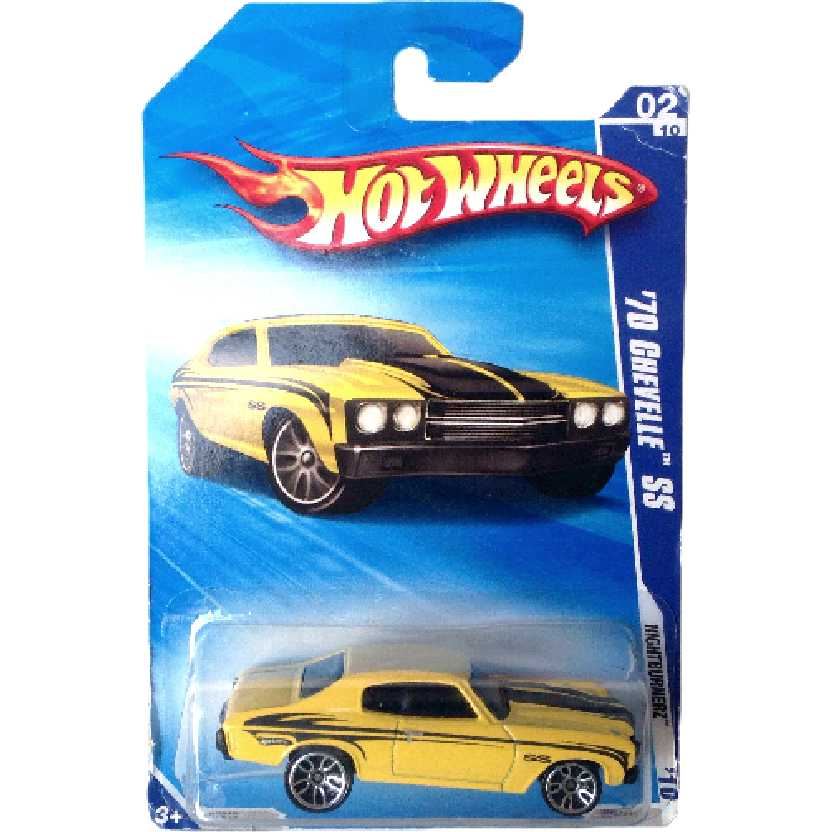 Carrinho 2010 Hot Wheels 70 Chevelle SS series 02/10 098/214 R7515 escala 1/64