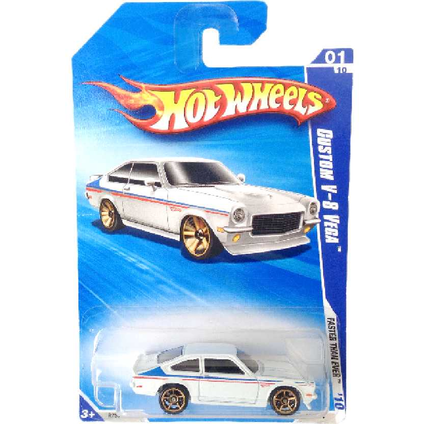 Carrinho 2010 Hot Wheels Custom V-8 Vega series 01/10 127/214 R7554 escala 1/64