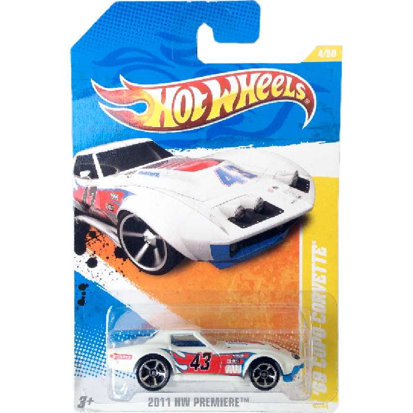 Carrinho 2011 Hot Wheels 69 Copo Corvette series 4/50 4/244 T9931 escala 1/64