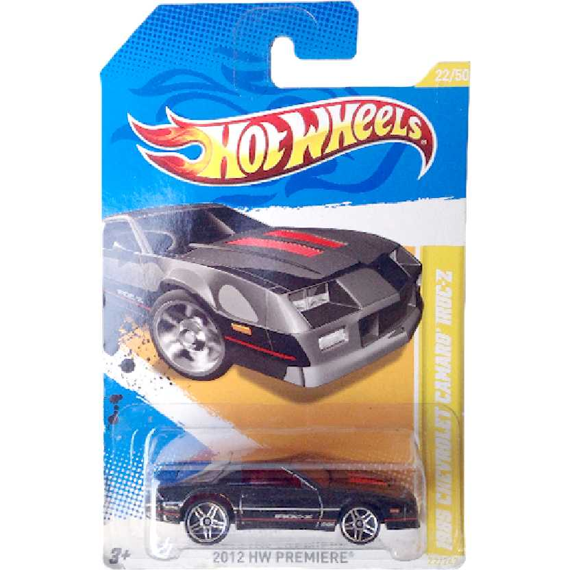 Carrinho 2012 Hot Wheels 1985 Chevrolet Camaro IROC-Z series 22/50 22/247 V5602 escala 1/64