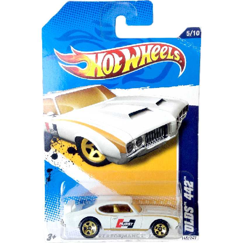 Carrinho 2012 Hot Wheels Olds 442 series 5/10 145/247 V5449 escala 1/64