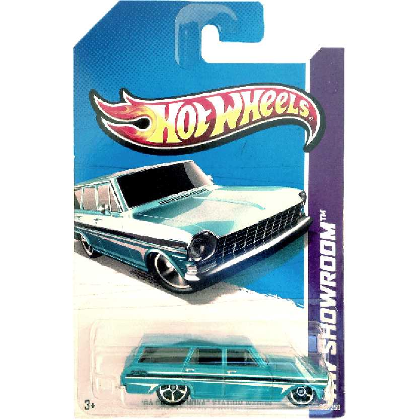 Carrinho 2013 Hot Wheels 64 Chevy Nova Station Wagon series 195/250 X1624 escala 1/64