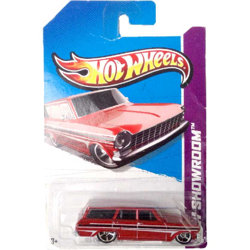 Carrinho 2013 Hot Wheels 64 Chevy Nova Station Wagon series 195/250 X2001 escala 1/64