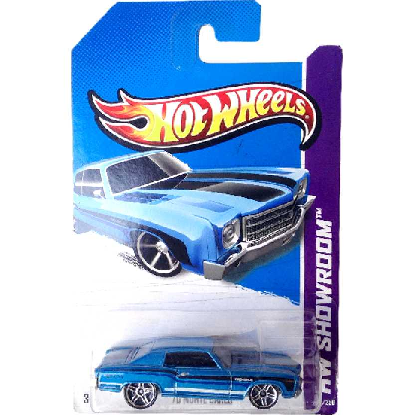 Carrinho 2013 Hot Wheels 70 Monte Carlo series 239/250 X1855 escala 1/64