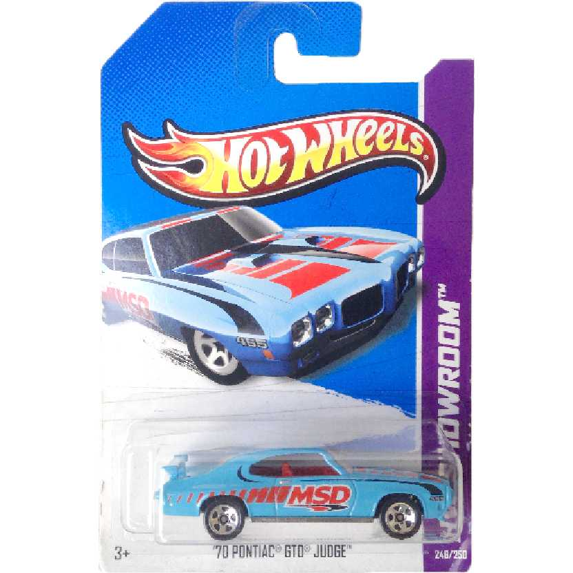 Carrinho 2013 Hot Wheels 70 Pontiac GTO Judge series 246/250 X1812 escala 1/64