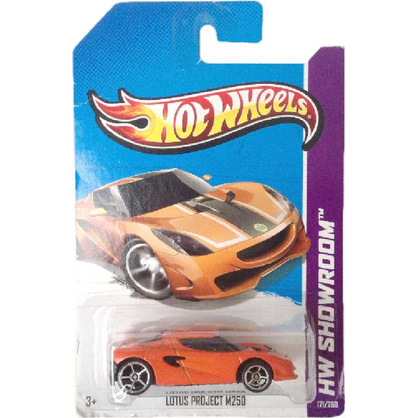 Carrinho 2013 Hot Wheels Lotus Project M250 series 171/250 X1990 escala 1/64