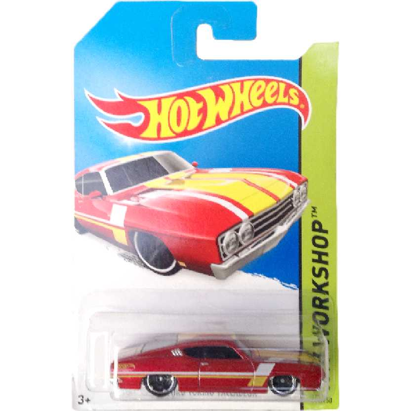 Carrinho 2014 Hot Wheels 69 Ford Torino Talladega series 235/250 BFF12 escala 1/64