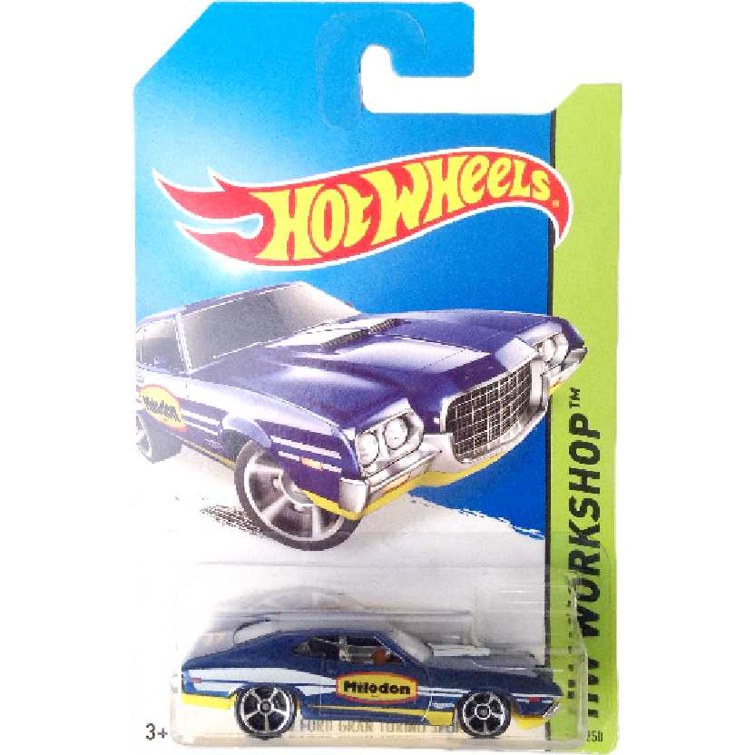 Carrinho 2014 Hot Wheels 72 Ford Gran Torino Sport series 248/250 BFF24 escala 1/64