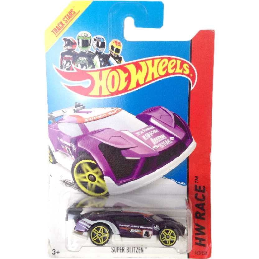 Carrinho 2014 Hot Wheels Super Blitzen series 163/250 BFD35 escala 1/64