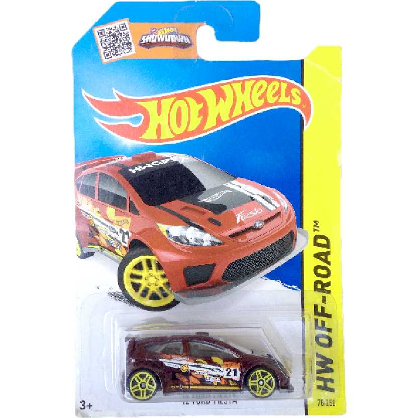 Carrinho 2015 Hot Wheels 12 Ford Fiesta series 78/250 CFK33 escala 1/64