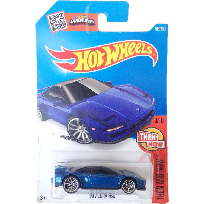 Carrinho 2016 Hot Wheels 90 Acura NSX series 3/10 103/250 DHR18 escala 1/64